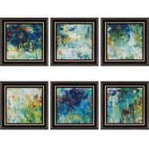 Found it at Wayfair - Falling Waters by Roth 6 Piece Framed Painting Print Set