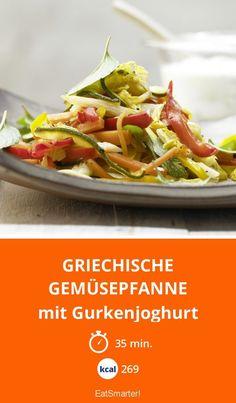Griechische Gemüsepfanne - mit Gurkenjoghurt - smarter - Kalorien: 269 kcal - Zeit: 35 Min.   eatsmarter.de