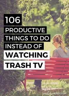 Are you watching more TV than you should? Join the club, my friend! If you want to give up TV to be a little more productive in life and business, here are 106 things you can do that are better uses of your time. From fun, quirky activities to ones that will grow your career.