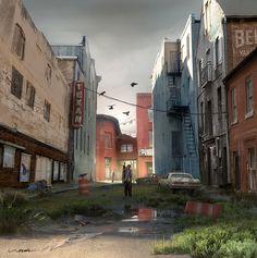 Zombie Alley by stayinwonderland.deviantart.com on @DeviantArt
