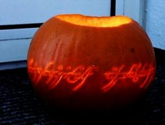 """One pumpkin to rule them all."" Totally doing this for Halloween."