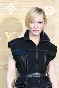 Cate Blanchett for Louis Vuitton during a photocall ahead of a diner for the launch of a Louis Vuitton leather goods collection April 11, 2017 in Paris, France