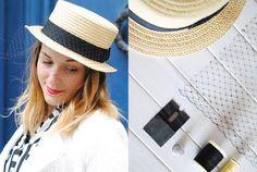 #DIY le canotier voilette / Margot - You make fashion - sur spritzi.com / Spritzi, l'actu en direct des meilleurs blogs mode et beauté #blogueuse #mode
