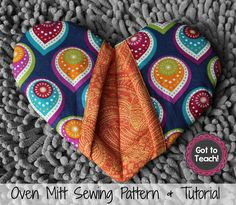 Feel like getting a little crafty? This super sweet heart oven mitt is SO easy to whip up and makes the perfect gift! $