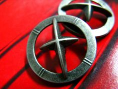 Star Glare Metal Buttons , Nickel Silver Color , Shank , 1 inch , 10 pcs by Lyanwood, $7.00