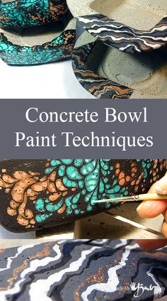Concrete Bowls Paint Techniques Madebybarb Feature