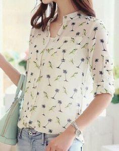 Camisa  Birds   Brinde= uma linda joia em prata,nas compras acima de R$ 200,00, na Magestic Boutique