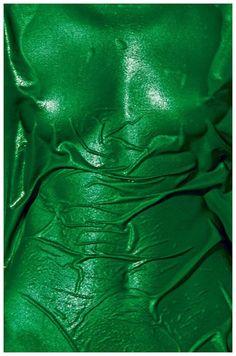 saloandseverine: Hans Feurer for Pirelli Callendar, 1976 / buste / Body / Woman / green / vert World Of Color, Color Of Life, Ragnor Fell, Next Year, Pirelli Calendar, Magazine Mode, Green Bodies, Belle Photo, Shades Of Green