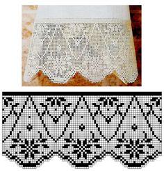 Risultati immagini per miria croches e pinturas Filet Crochet, Annie's Crochet, Crochet Borders, Thread Crochet, Chrochet, Crochet Doilies, Crochet Patterns, Yarn Crafts, Diy And Crafts