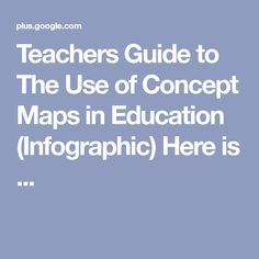 Teachers Guide to The Use of Concept Maps in Education (Infographic) Here is ... Mobile Learning, Educational Technology, Maps, Infographic, Concept, Infographics, Blue Prints, Map, Instructional Technology