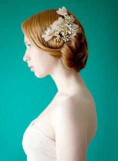 Peine de pelo nupcial de tocados tocados de novia por sibodesigns