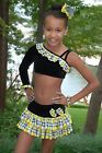 Yellow black plaid custom competition dance costume CL CXL School Girl pageant