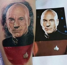 "Star Trek tattoo. ""Make It So"" In this gallery you'll see some out of this world Star Trek tattoos."
