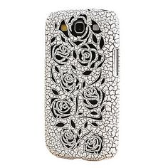 Rose Hollow Design Ultralighte PC Case for Samsung Galaxy S3 I9300 (Assorted Colors) – USD $ 6.99