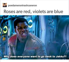 Poetry from a galaxy far far away...
