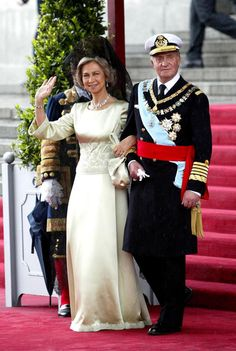 Parents of Prince Felipe. King and Queen of Spain