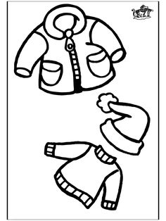 FREE Winter Clothing Coloring Pages Great for sequencing The