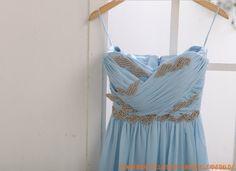 Trägerlos Kolumne Bodenlang Elegante Brautkleider 2013 aus Chiffon mit Perlenstickerei