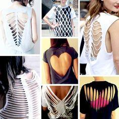 Cut ur shirt- luv these ideas