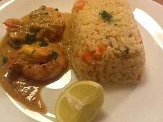 Crevettes aux curry et aux agrumes ( orient/ inde)
