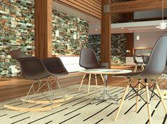 La #EamesMolded, lanzada en 1950, fue la primera silla de plástico de la historia a ser producida en masa.
