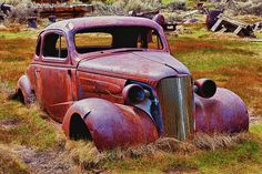 Old rusty car Bodie Ghost Town - Garry Gay