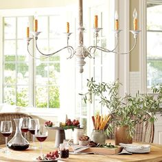 Williams Sonoma Country Rustic Chandelier