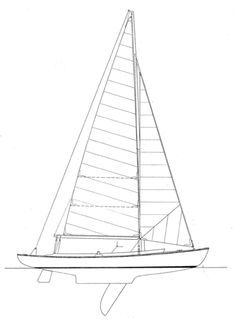 23' Double Ended Sloop Designer:  Joel White Skill Level to Build:  Advanced  Speed, good looks, and comfortable seating were the designer's main criteria for this double-ended centerboard daysailer.  Construction: Cold-molded over strip-planked inner skin.  Alternative construction: Strip, carvel planked...