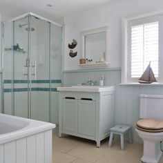1000 images about nautical themed bathrooms on pinterest for Bathroom ideas using tongue and groove