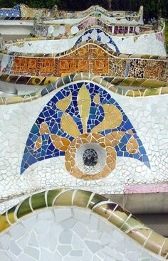 Antoni Gaud 237 Park G 252 Ell Mosaic Mosaics In 2019 Gaudi Mosaic Antoni Gaudi Barcelona Spain