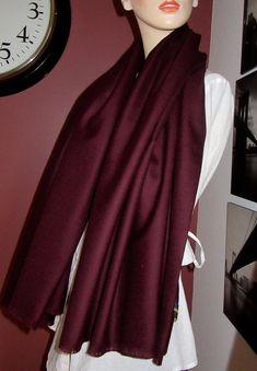 Burgundy Pure Wool Blanket Wrap Shawl~ Burgundy Pure Wool blanket wrap Shawl~Blanket Scarf ~ Christmas Gift Maroon colour Scarf~Hand made Fringe Wraps Wine Color Scarf 88 Maroon Scarf, Burgundy Scarf, Burgundy Color, Tartan Plaid Scarf, Tartan Fabric, Wool Fabric, Blanket Shawl, Plaid Blanket Scarf, Wool Blanket