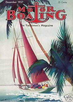 Vintage Magazine Motor Boating December 1930 By