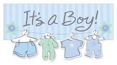 """The """"It's a Boy"""" baby shower package features your choice of 3 baby onesies! What a great gift! Its A Boy Banner, Fb Cover Photos, Event Banner, Cover Quotes, Baby Boy Photos, Baby Cover, Facebook Timeline Covers, 3rd Baby, Fb Covers"""