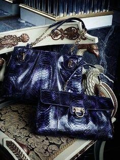Ferragamo Midnight blue exotic skins Best Handbags b44151da38217