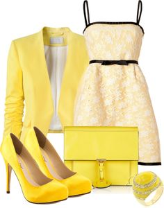 """""""Yellow"""" by pollydickson on Polyvore"""