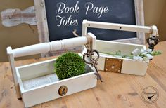 Drawer toolboxes lined with book pages / these are adorable! By Homeroad
