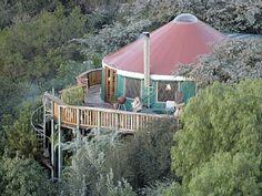 Luxurious mountain yurt in Santa Barbara #vacationrental