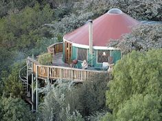 Luxurious mountain yurt in Santa Barbara #vacationrental