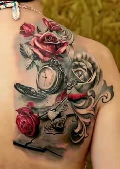 Roses and time, back shoulder