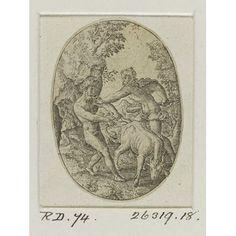 Print - Hercule Combattant Contre Cacus
