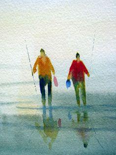 Two anglers.
