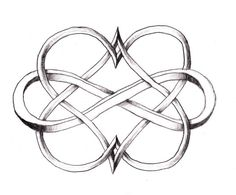 Infinity With Two Hearts – Tattoo Ideas Central (hearts One Color, Infinity Another