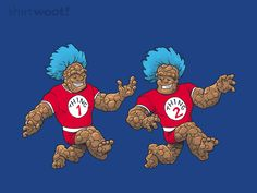 Thing 1 and Thing 2 #FantasticFour #DrSeuss
