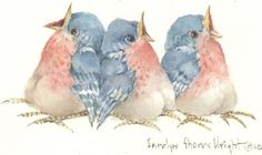 """Watercolor 3""""x5"""" image on approx. 5""""x8"""" professional paper. Signed by the artist."""