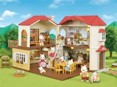 CUSTOM keepsake felt backed RUG for Sylvanian Families Beechwood Hall