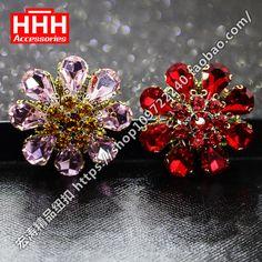 Hhh 33 mm botão acessórios de vestuário decoração haste de luxo casaco de pele de strass botões DG009
