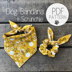 Dog Clothes Patterns, Pdf Sewing Patterns, Sewing Tutorials, Sewing Diy, Sewing Crafts, Bowtie Pattern, Dog Pattern, Dog Bandanas Pattern, Pattern Fabric