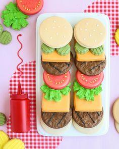 """""""Cheeseburger"""" cookies"""