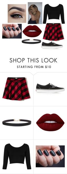 """""""Untitled #1750"""" by hey-mate ❤ liked on Polyvore featuring Hollister Co., Vans, Humble Chic, Lime Crime, Topshop and Life's a Beach"""
