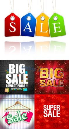 Mall sale poster template vector material